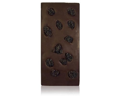 chocolade met donkere rozijnen