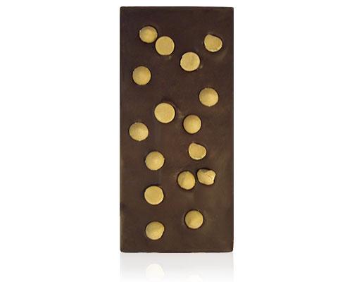 Chocolade met druppels van karamelchocolade