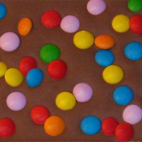 Chocolade met snoep en koek