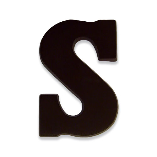 Letter S van pure chocolade
