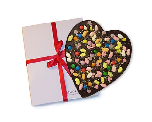 Chocoladehart Rainbow