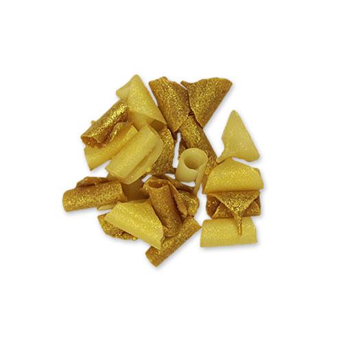Gouden witte chocokrullen