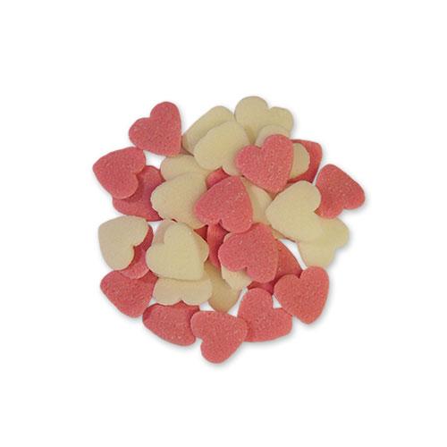 roze en witte hartjes