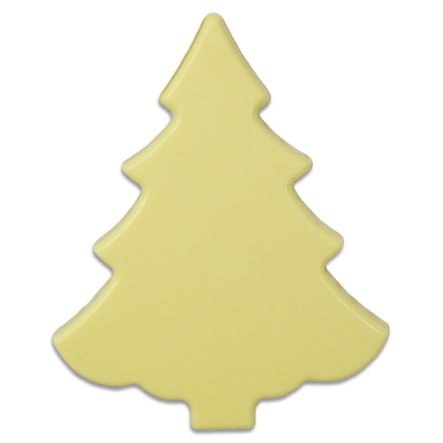 Kerstboom van witte chocolade 100 g