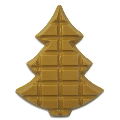 Kerstboompje Gold van karamelchocolade